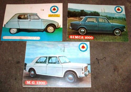 cuadernillo autos antiguos