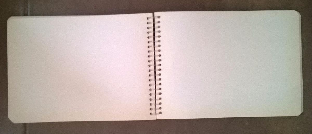 cuaderno 200 hojas blancas  forma italiana