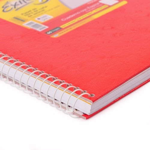cuaderno 21x27 exito e7 colegial espiral rojo 100 hj rayad