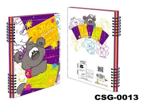 cuaderno 7 materias mhotitas, 210 hojas, tamaño 27.8 x 21