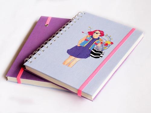 cuaderno a5 (15x21cm) violeta- tienda puro diseño