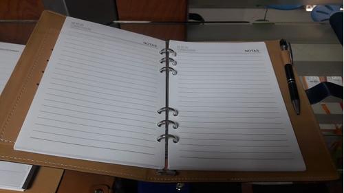 cuaderno agenda 2018 con diseño elegante