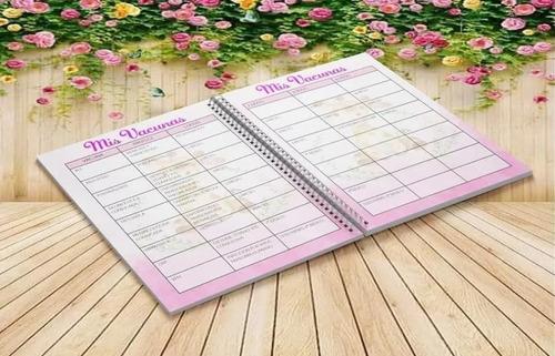 cuaderno agenda pediátrica imprimible editable - kit x 8