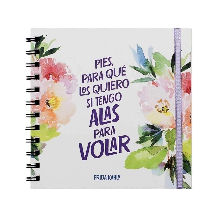 Cuaderno Anillado Con Frase Frida Kahlo Rayado