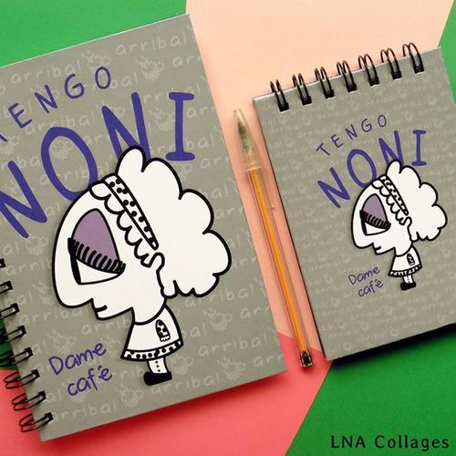 cuaderno anillado tapa dura noneta - regalos día del amigo