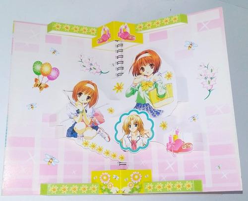 cuaderno anime cosplay navidad regalo otaku niña