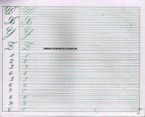 cuaderno aprendiendo caligrafia strikman nº1 cursiva inglesa