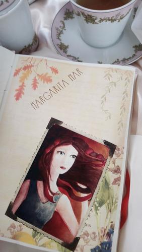 cuaderno artesanal. ilustrado. hecho a mano - margarita mar-