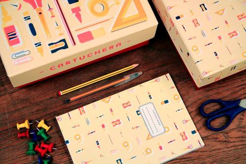 cuaderno cartuchera 80h lisas a5 papelera contemporánea