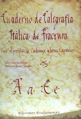 cuaderno de caligrafía itálica de fractura(libro )