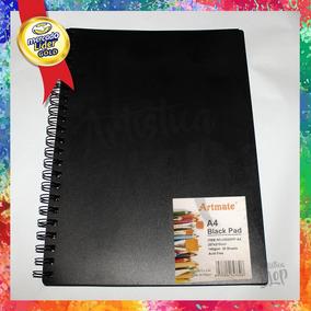88b0198cf Cuaderno De Dibujo 30 Hojas Negras 140 Gramos A4 Profesional