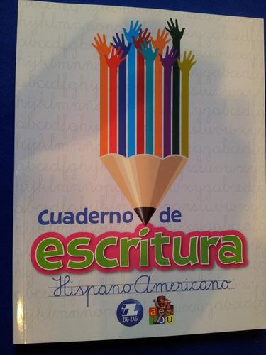 cuaderno de escritura hispanoamericano - caligrafía zig zag