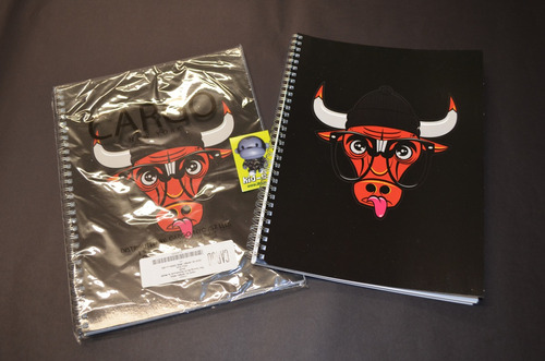 cuaderno de espiral chicago bulls importado usa