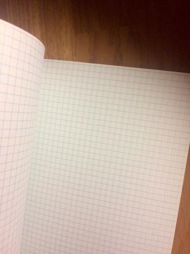 cuaderno de hoja cuadriculada