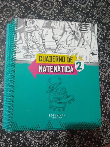 cuaderno de matemática 2 sobre ruedas edelvives nuevo