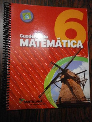 cuaderno de matemática 6 santillana en movimiento como nuevo