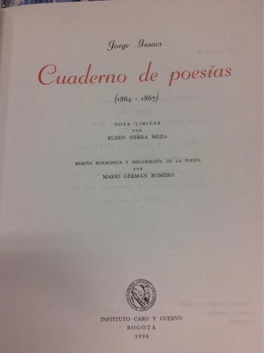cuaderno de poesías de jorge isaacs