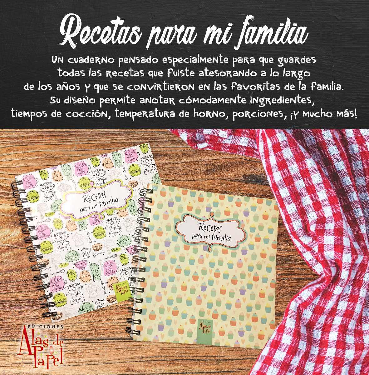 Cuaderno De Recetas De Cocina - Un Regalo Muy Original!!!