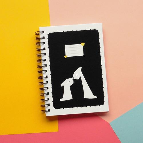 cuaderno de tapa dura perrikiss - día del amigo