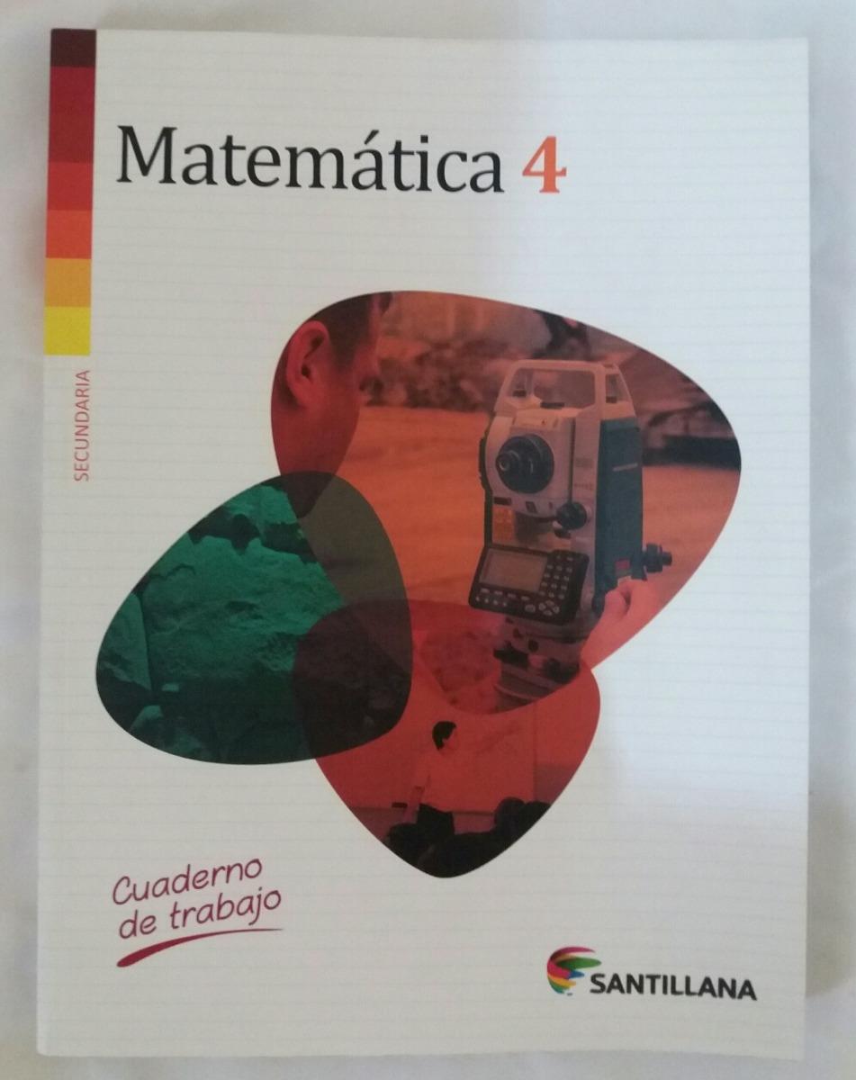 Cuaderno De Trabajo Matematica 4 Secundaria Santillana - S/ 29,00 en ...