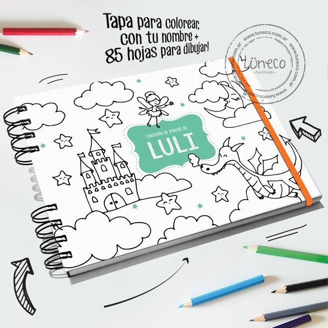 Cuaderno Dibujo Tapa Personalizada Regalo Original 38000 En