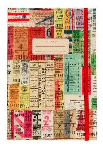 cuaderno diseño boletos 80h lisas a5 papelera contemporánea