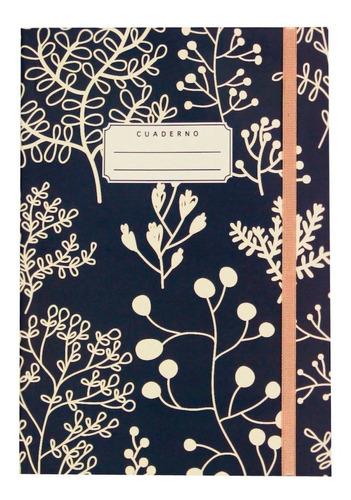 cuaderno diseño flores 80h lisas a5 papelera contemporánea