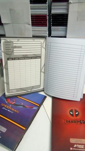 cuaderno escolar de rayas