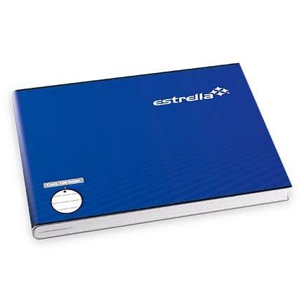 cuaderno estrella engrapado italiana raya 100 hjs