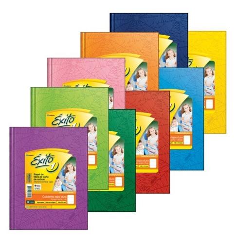 cuaderno exito e1 tapa dura x 48 hojas rayadas 16 x 21 cm