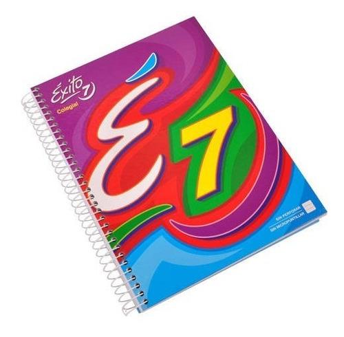 cuaderno exito n°7 colegio espiral 100 hojas x4 unidades