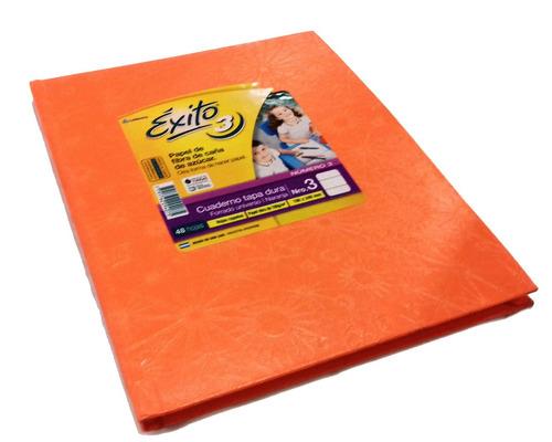 cuaderno exito tapa dura 48 hojas n3 tip abc 190x240mm color