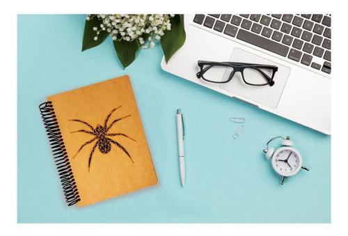 cuaderno frances corte láser pasta dura araña art14303