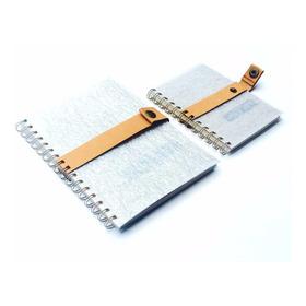 Cuaderno Fsc Cinturón A5  Cuero Plastico Reciclado