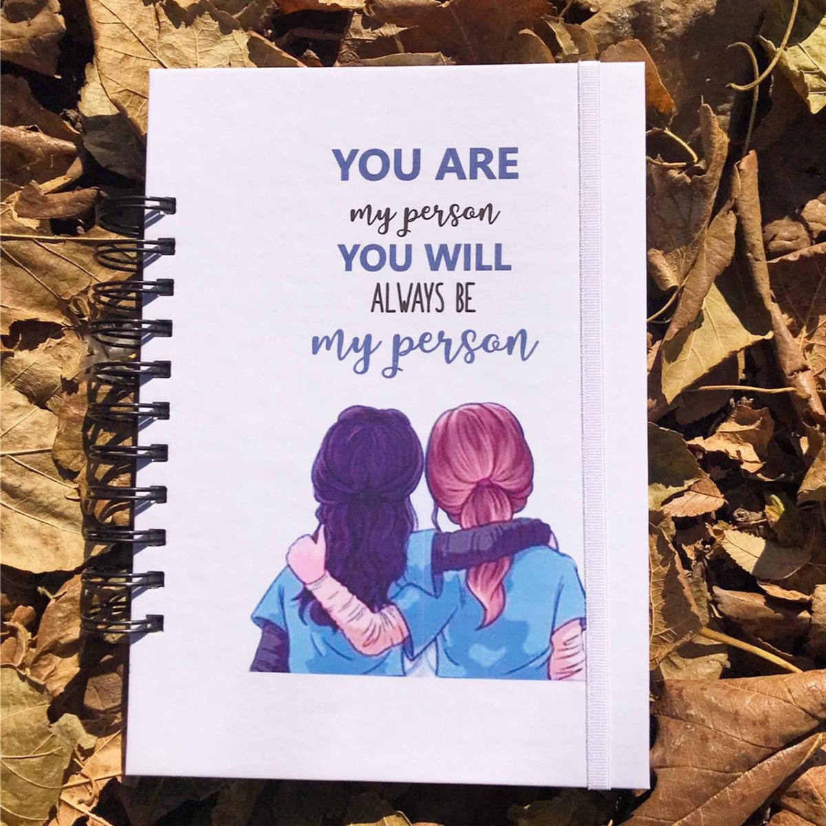 Cuaderno Greys Anatomy Planificador Mensual Semanal Frases