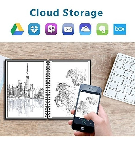cuaderno inteligente reutilizable everlast smart notebook