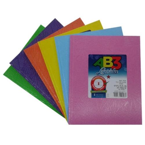 cuaderno laprida tipo abc 50hojas excelente calidad - flores