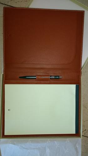 cuaderno libreta anotador rolex y birome rolex originales.