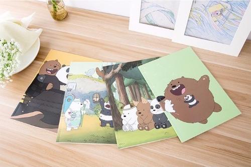 cuaderno, notas, libreta  we bare bears escandalosos