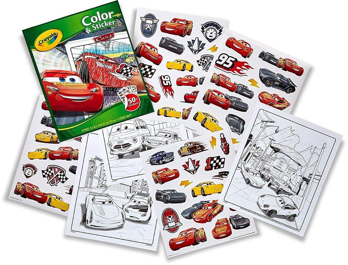 Cuaderno Para Colorear Crayola Cars 3 Con Calcomanías - $ 446.46 en ...
