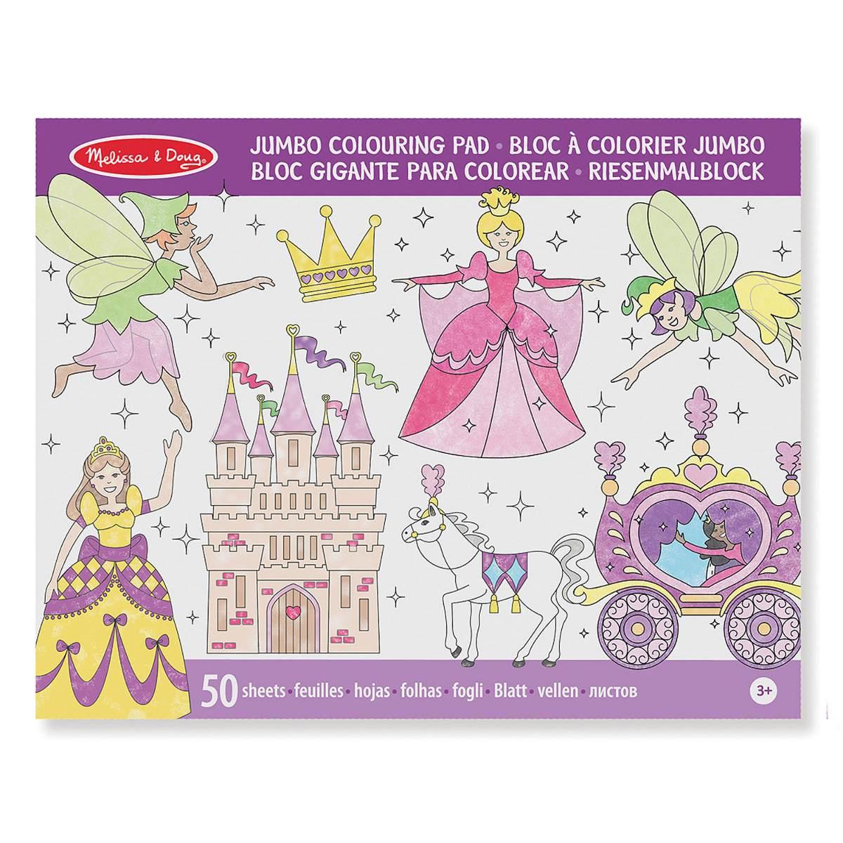 Cuaderno Para Pintar- Princesas Y Hadas - $ 71.00 en Mercado Libre