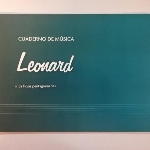 cuaderno pentagramado 32 hojas leonard lnd-32