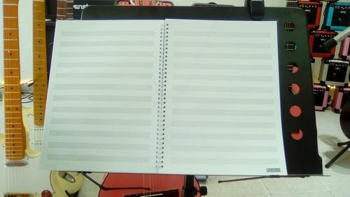 cuaderno pentagramado con acordes anillado * el mejor *