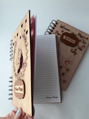 cuaderno personalizado 1/2 carta, regala agendas con nombres