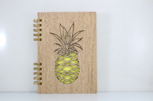 cuaderno personalizado madera