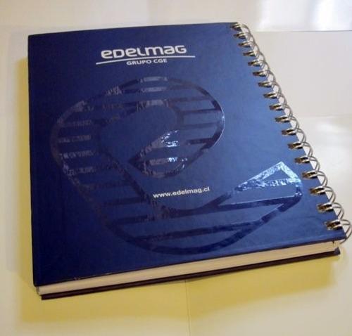 cuaderno publicitario con logo personalizado al mayor