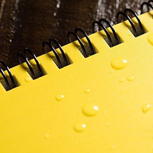 cuaderno rite in the rain, amarillo, de raya, 15.2x22.86 cm.