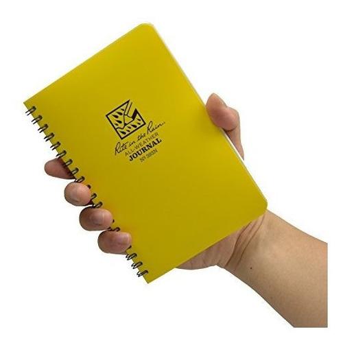 cuaderno rite in the rain, espiral lateral, amarillo, raya.
