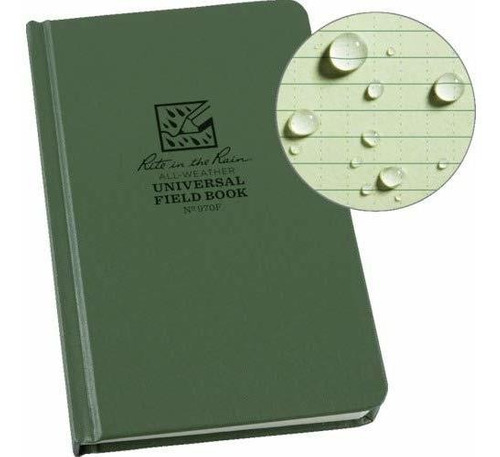 cuaderno rite in the rain, patron universal, tapa dura,verde