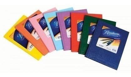 cuaderno rivadavia tapa dura forrado 50 hojas rayadas x5 un.